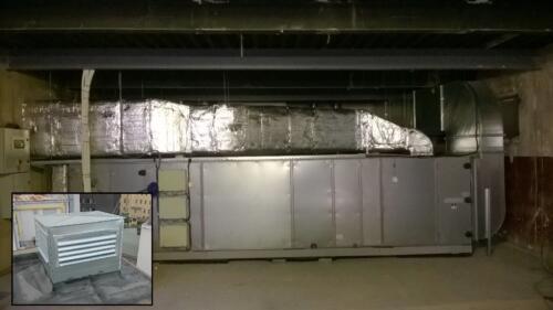 Přesun VZT jednotky ze střechy do objektu. Obrat 0,6 mil Kč