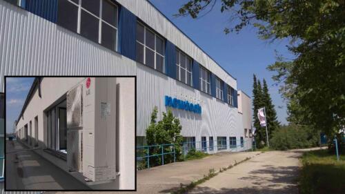 Výrobní hala Newtech Planá nad Lužnicí. Obrat 0,6 mil Kč